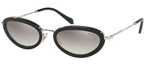 Miu Miu Sonnenbrillen Ring SMU 58U Black/Grey Shaded Damenbrillen