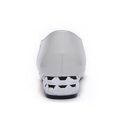 LFNLYX Sandales femmes Printemps Été Bureau similicuir Confort & Carrière Partie & Soir Talon bas occasionnels hollow-out autres blanc White