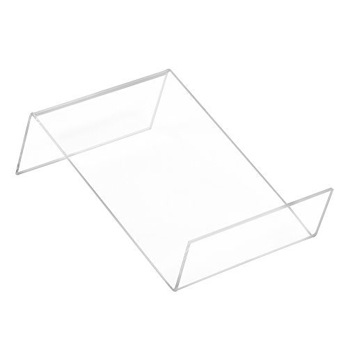 DIN A6 Buchstütze Flach aus Acrylglas - Zeigis®/Buchständer/Warenstütze/Warenträger/Warenpräsentation/Produktpräsentation