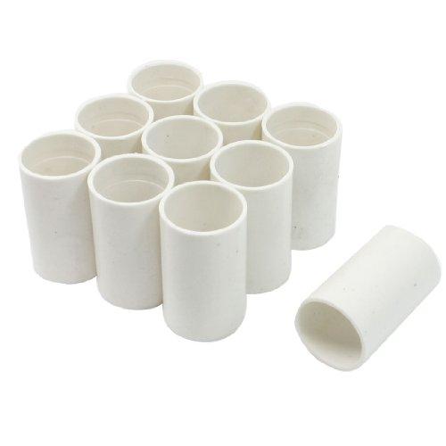 sourcingmap® Stecker gerade 10 pcs 20 mm Innendurchmesser PVC Rohr Treppenhochstuhl Weiss