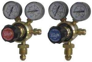 Langley Paar Sauerstoff und Acetylen Single Stage 2Gauge Regulator für Gas Zylinder -