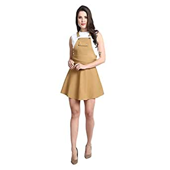 GSAMALL NewTrend Cotton Lycra Dungaree Skirt for Women