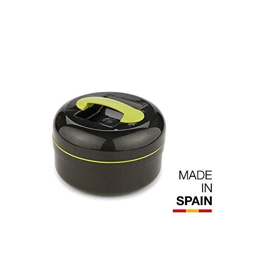 Valira M116701 - Fiambrera  térmica para sólidos, color negro y verde