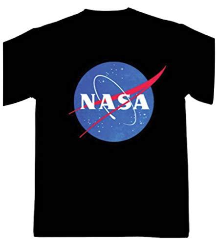 NASA - Logo - Camiseta Oficial Hombre - Negro, Large