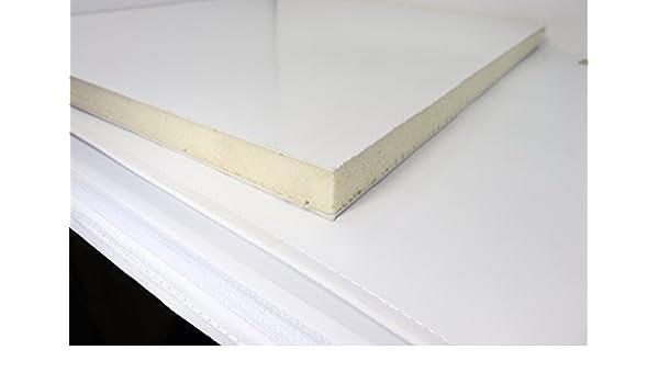 Sandwich-Paneel in cm  Kunststoff PVC Platte Sandwichplatten weiss 24 mm dick