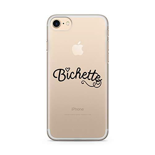 zokko.fr Coque iPhone 7 Bichette - Taille iPhone 7 - Souple Transparente Encre Noir