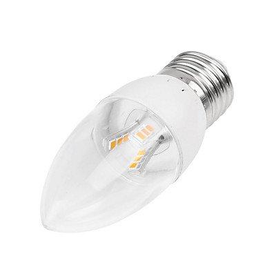 FDH 5W E14/E27/B22 Luces de velas LED SMD LED Empotrables de Retrofit 18LM2835 350-400 AC regulable de 85-265 V 1pcs,luz cálida -E14