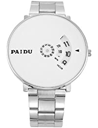 R.B.ENTERPRISRE New Arrival Special Collection Paidu Round Analogue White Dial Men's Watch | Fashion Wrist Watch...