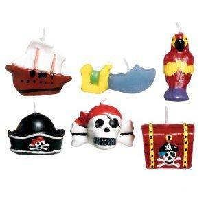 Mini-Kerzen Piraten-Schätze, 6 Stk.
