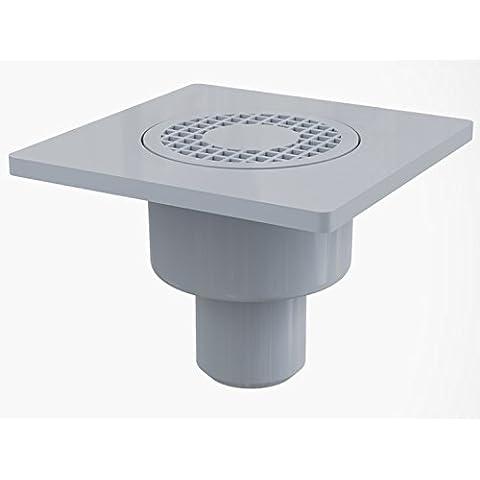 Base 150 x 150 scarico attacco DN 50 extra piatto doccia con scarico verticale in plastica da spiaggia
