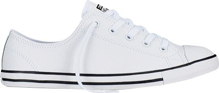 Converse  Dainty Leath Ox, Sneakers Basses femme Blanc - Weiß (Blanc)