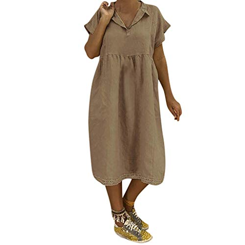 Lucky Mall Frauen Beiläufige Knopf Plus Größen Bluse, Splice ()