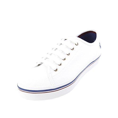 Fred Perry Phoenix Flatform Heavy Canvas White Blanc