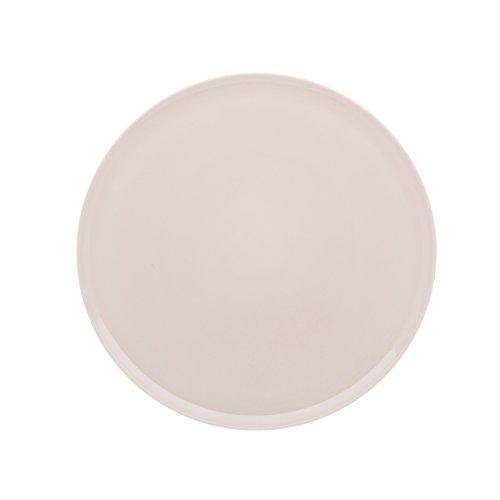 DEGRENNE - Modulo Color Plat à Tarte Rond, Porcelaine, Rose Poudre