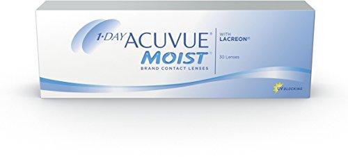 ACUVUE MOIST 1-Day Tageslinsen für empfindliche Augen & Allergiker - Tageskontaktlinsen mit -2,75 dpt und BC 8.5, DIA 14.2 mm - UV Schutz & hoher Tragekomfort - 30 Linsen