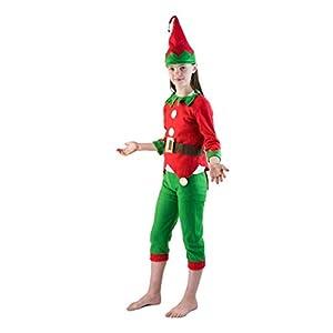 Bodysocks Fancy Dress Disfraz de Elfo Pequeño Ayudante de Santa Claus para Niños (7-9 años)