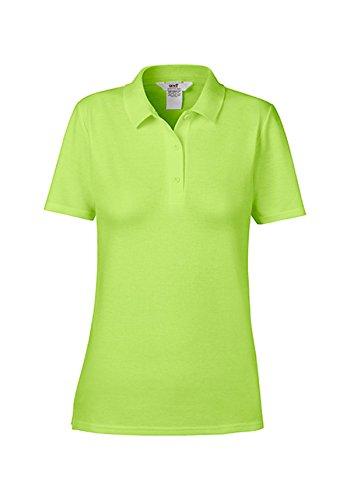 Polo Femme piqué double classique manches courtes Key Lime