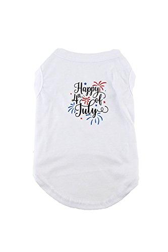 Midlee 4. Juli Feuerwerk Hund Outfit, 4XL, Weiß