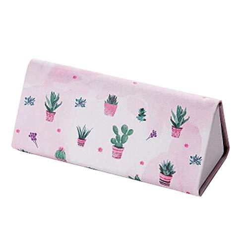 Zusammenklappbarer Brillenetui Magnetischer Verschluss Brillenetui Kurzsichtige Brillenbox Kaktus Weiß Und Rosa