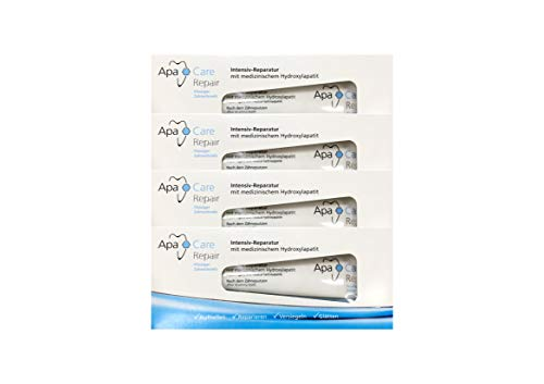 2 Intensive Repair-behandlung (4x ApaCare Repair Intensiv-Reparatur Gel Zahncreme 30ml)