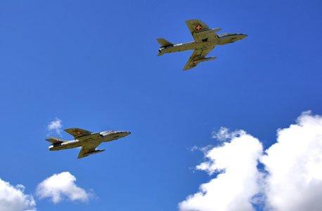 Jochen Schweizer Geschenkgutschein: Hawker Hunter Flug