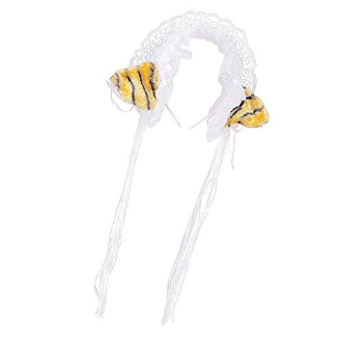MagiDeal Halloween Lolita Spitze Katze Ohr Stirnband Kostüm Mädchen Hen Nacht Party - (Haar Kostüm Tiger)