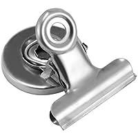 TiooDre Clips fuertes Iman Hook, Perfecto clip magnético Cocina Refrigerador Congelador resistente a los arañazos Imanes Imanes de la pizarra de Home School Oficina (1pcs)