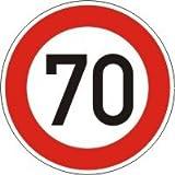 Geburtstags- und VERKEHRSSCHILD 70 KM/H Schild DN 60 cm Nr. 274-70 zum Geburtstag als...
