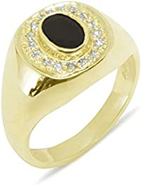 e497a30ee2ca9 Amazon.co.uk: Onyx - Rings / Men: Jewellery