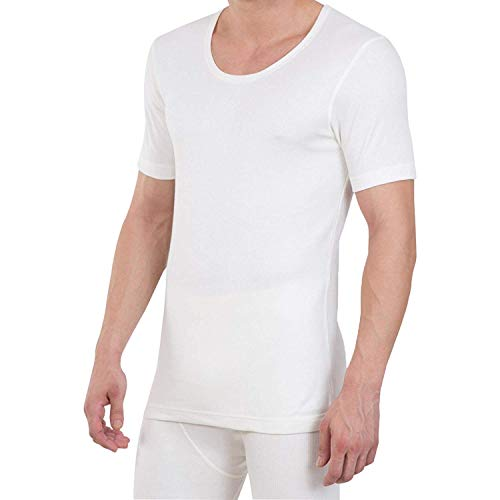 Kostüm Herren Jockey - JOCKEY Herren thermal-short Ärmel Weste 2400-snug PASSFORM- 2 colours-low neck-no Label - Dunkelgrau, Large