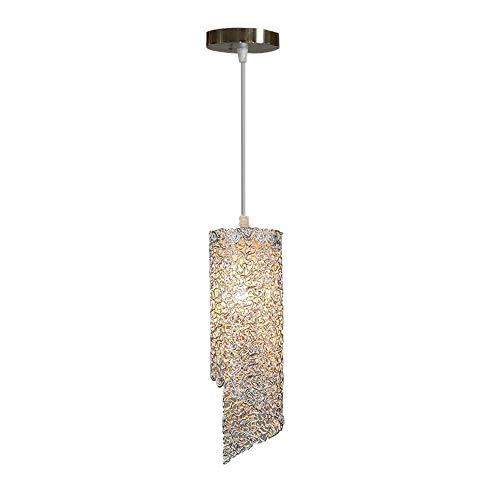 Wylolik Moderne Einfachheit Aluminiumdraht System Lampenschirm Farbe Chrom-Finish Treppenbeleuchtung Pendelleuchte Restaurant Dekoration 12,5