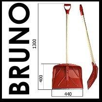 BRUNO by koenig-tom Schneeschaufel Schneeschieber 130x44cm - 2