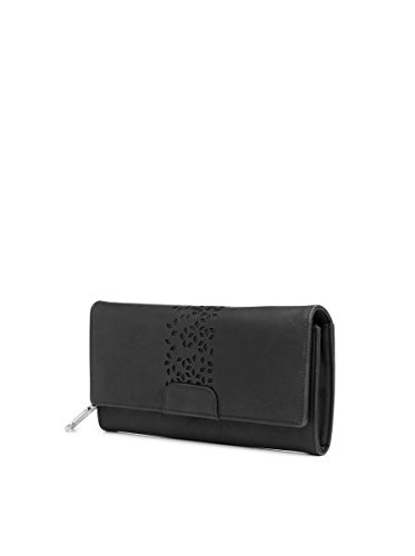 Butterflies Women Wallet (Black) (BNS 2394BK)