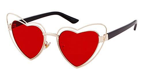 Midsy Herz Form Sonnenbrille Damen Freizeit Outdoor-Brille KohlefasertempelDekogläser BlendschutzSonnenbrillen Outdoor UV