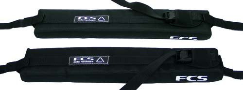 FCS Single Soft With Cam Lock Roof Rack - Black