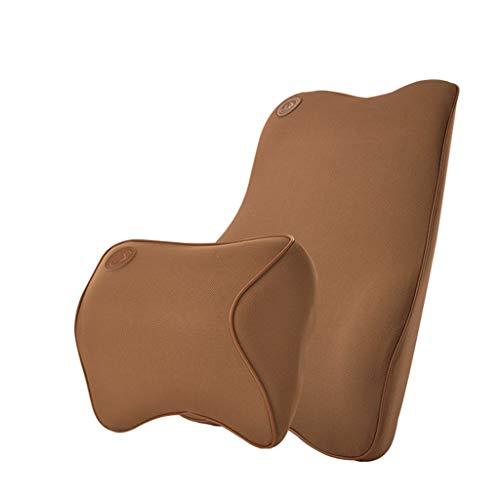 Asdfooo Speicher Baumwolle Lendenwirbelkissen, Fitness Sport Polyester Jacke Four Seasons Patio Chair Recliner Autositz (Farbe : Brown) (Brown-patio-stuhl-kissen)