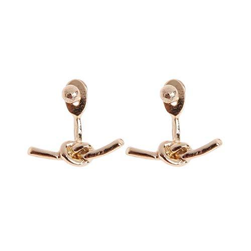 Schmuck, schönes Ohrpiercing, Ohrstecker, Earrings, 1 Pair Golden/Silvery Twisted Infinity Love Knot Stud Earrings for Women Jewelry Gold (Knot Stud Ohrringe Love)