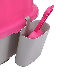 XIYAO Katzenstreuschaufel Set, Hängende Katzenstreuschaufel mit hängendem Eimer Sauber und hygienisch Katzenstreu Zubehör Werkzeug