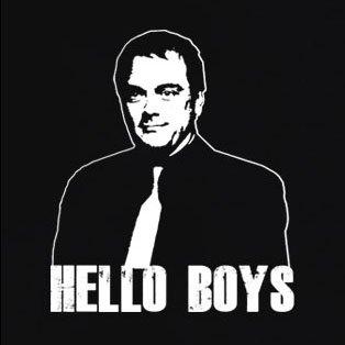 TEXLAB - Crowley Hello Boys - Damen T-Shirt Dunkelblau