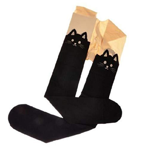 Romote Frauen Lange Socken-Katze-Ohr-Schenkel-Hohe Socken Baumwolle über Das Knie-Socken Stiefel Strümpfe Stulpen