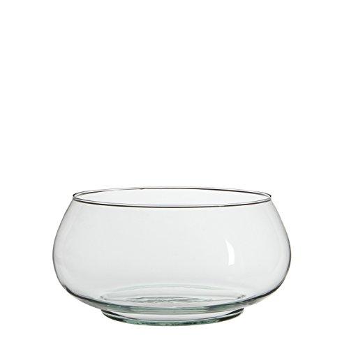 Copa redonda centro de mesa de cristal