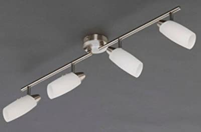 "Deckenlampe Gelenkbogen ""Alfa Compact"" 4x E14 nickel mattweiß"