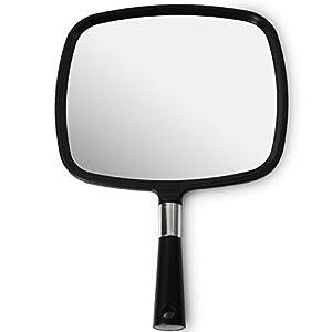 Mirrorvana groß & Bequem Handspiegel mit Griff (2017 Modell)