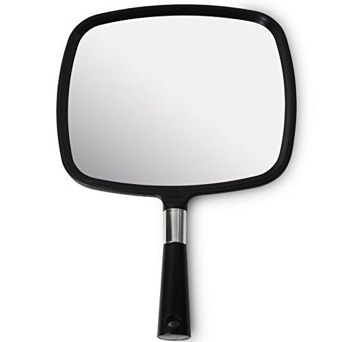 Espejo de Mano para Peluqueria y Maquillage (Grande Modelo en Negro)