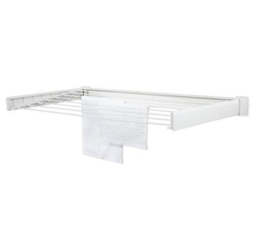 Leifheit 83306 - Stendibiancheria da parete Telegant 70, colore: Bianco