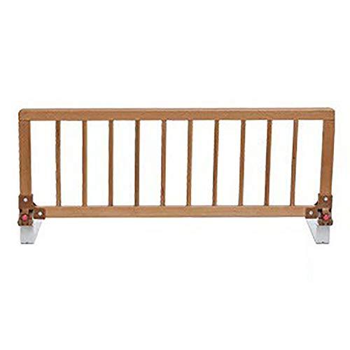 Hölzerne Geländer für Kleinkinder, Baby Langes Bettgestell Herunterklappbare Krippe Schiene für Etagenbetten, Holzfarbe (Color : 10-15cm Thickness mat, Size : 140cm) -