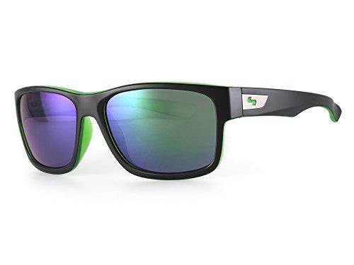 Sundog Standard Sonnenbrille, matt schwarz/CRY grün Rahmen/Smoke Hellgrün