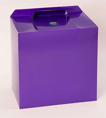 Metallisch violett Einweg Sanitär Behälter - 6er Pack von Brilliant Bins: Preisgekröntes, Preiswert, Keine Verträge