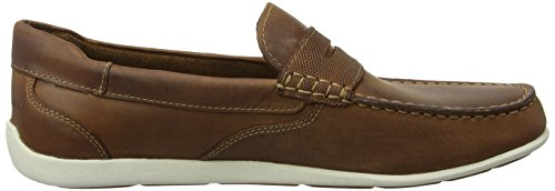 Rockport Bennett Lane 4 Penny, Mocassins Homme Brown (cognac Leather)
