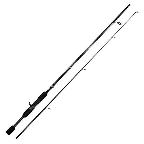 Lure Gewicht 4.5-13g Carbon-Faser Angelrute Tragbarer 2 Abschnitt 1.8M Eva Griff Ultraangelgussteil-Rod Pole, Himmelblau, 1,8 m -